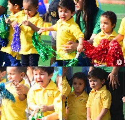 Taimur Ali Khan not enjoy  sports day at school despite winning a medal:  View pics