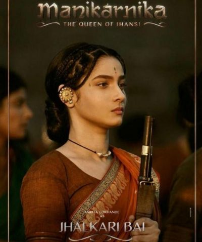 This new poster of the Manikarnika: The Queen of Jhansi is out:  Ankita Lokhande looks fierce as Jhalkari Bai