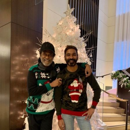 Superstar Rajinikanth and Dhanush are celebrating christmas in US, check out the viral photo