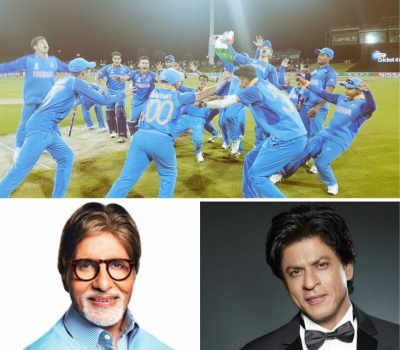 Bollywood celebs pours best wishes as Indian Cricket Team U19 wins the match against Australia