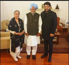 Kapil Sharma meets the Former PM Dr Manmohan Singh and his wife