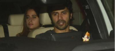 Pic! Varun Dhawan and girlfriend Natasha Dalal enjoy a late-night movie date
