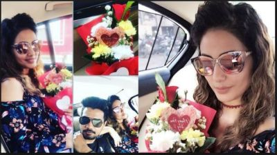 Love bird Hina Khan and Rocky Jaiswal rose day celebration was amazing