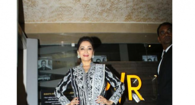 Madhuri Dixit spotted in a traditional wear