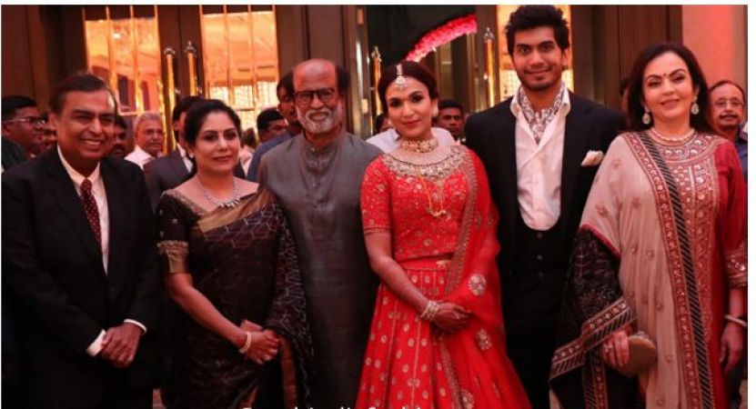 Soundarya Rajinikanth Reception Party look like a queen, wedding reception pics inside