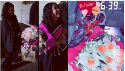 Neha Kakkar got her Valentine's Day surprise, her reaction is unmissable