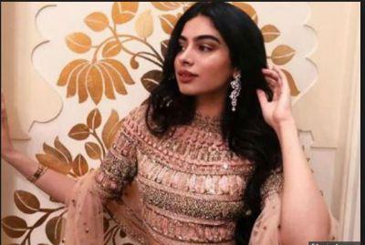 Khushi Kapoor's look in rose gold lehenga stun you….have a look inside