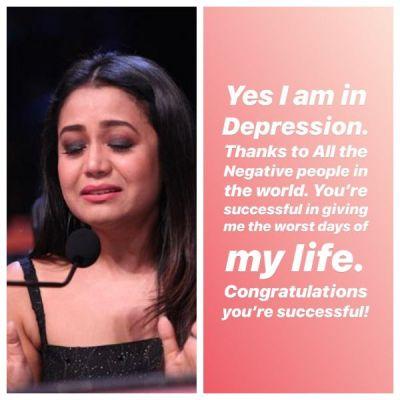 'Yes I am in depression' reveals  Neha Kakkar post Her Breakup With BF Himansh Kohli, read Insta-post