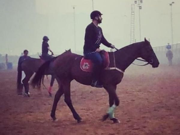 See Pic - Arjun Kapoor begins early morning prep for Panipat, takes lessons of horse-riding for his role