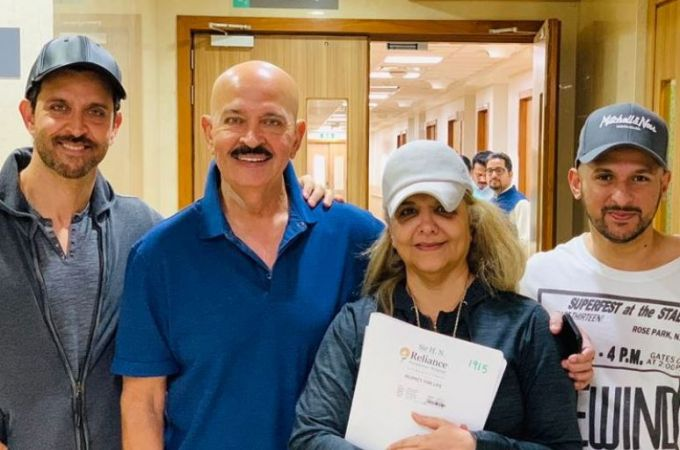 Rakesh Roshan walks out of the hospital after throat cancer surgery