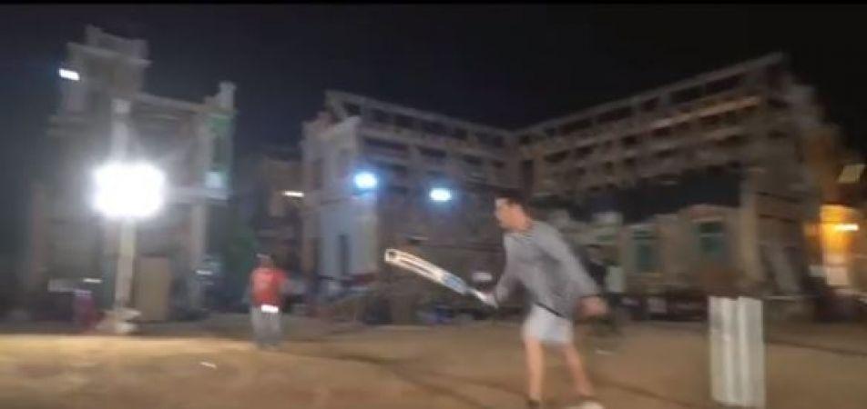 Watch Video: Salman plays 'Dabangg' cricket shots on the sets of Bharat