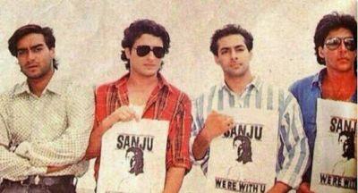 In pics: Salman, Akshay, Ajay and Saif while supporting 'Sanju'