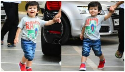 Taimur Ali Khan series of clicks while recently spotted with his cute wide smile