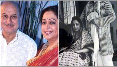 Kirron Kher shares a series of pics on her hubby Anupam Kher's birthday with a special note