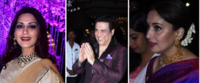 Madhuri, Sonali , Govinda, among others arrived at a wedding reception in the city
