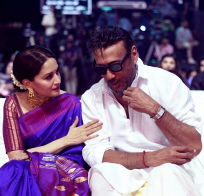 Jackie Shroff shared an adorable photo with his 'most favorite' Madhuri Dixit