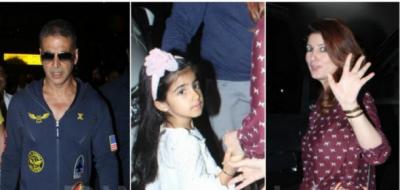 Akshay Kumar returned to Mumbai captured at Mumbai airport