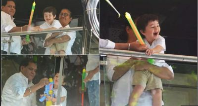 Taimur Ali Khan adorable pics of celebrating Holi with Pichkari…watch video inside