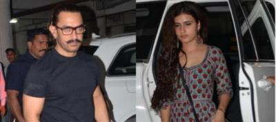 Aamir Khan and Fatima Sana Shaikh captured in Jodhpur