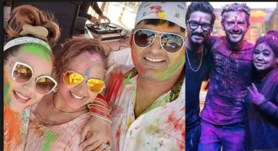 Kapil Sharma and  Ginni Chatrath's first Holi celebration after marriage…pics inside