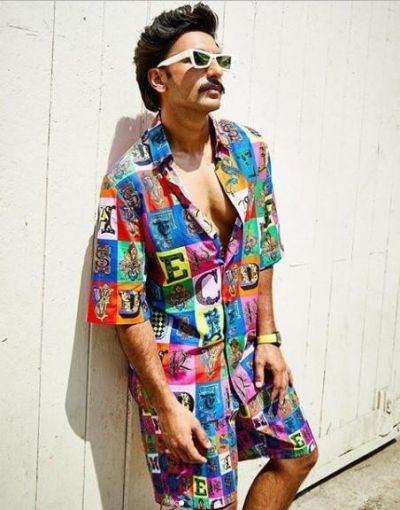 The price of Ranveer Singh's alphabet print co-ord outfit will make go surprised