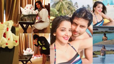 Picture talk: Monalisa is enjoying honeymoon with hubby Vikrant Singh Rajpoot