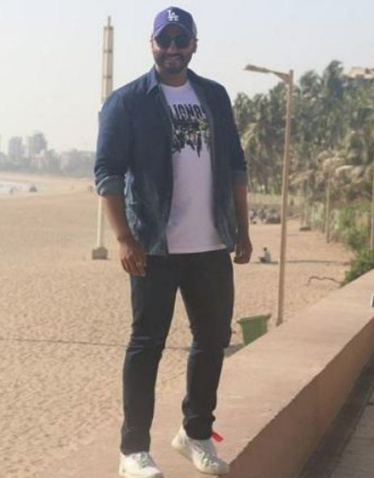 Arjun Kapoor opts for an all denim look as he promotes India's Most Wanted