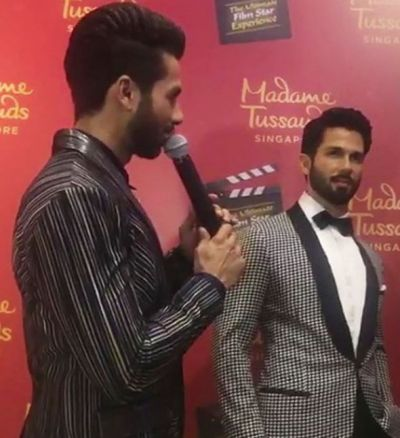 Shahid Kapoor unveils his first wax statue at Madame Tussauds