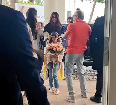 Aishwarya Rai gets a royal welcome at the Hotel at French Riviera