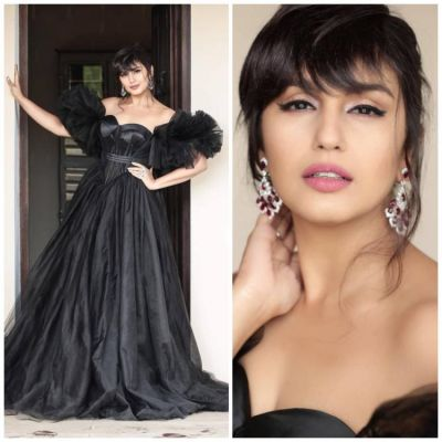 Huma Qureshi's looks Black chick at Cannes 2019