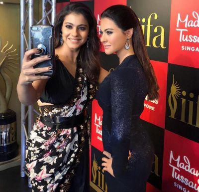 Kajol meets another Kajol at Madame Tussauds