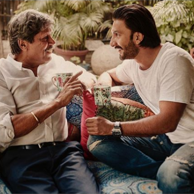 Ranveer Singh spends fun time with Kapil Dev, check out pic here