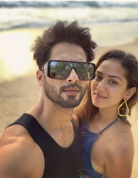Shahid Kapoor-Mira Kapoor soaking the sun while Misha and Zain play by the beach, check out the pic here