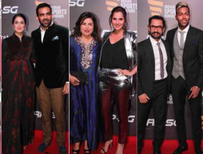 When Sport star meets Bollywood stars at Indian Sports Honors Awards. See the picture