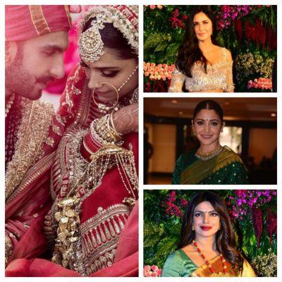 Ranveer Singh & Deepika Padukone invites  Katrina, Anushka, Priyanka, Ranbir for the Mumbai reception