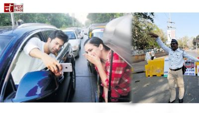 Mumbai Police not pleased after Varun Dhawan controversial selfie with fan.