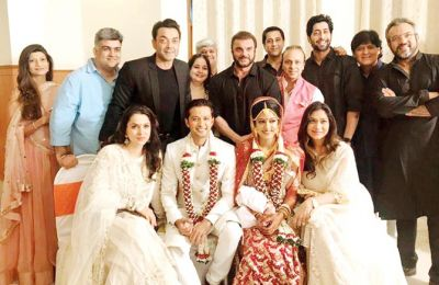 Drishyam actress and Tv actor wedding party attend by Bollywood stars.