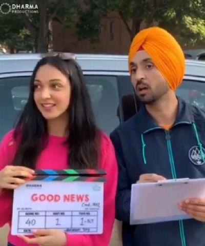 Diljit Dosanjh & Kiara Advani kick off the shoot of Good News