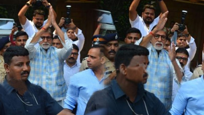 Happy birthday Amitabh Bachchan:  Wait is over! Big B greets flock of fans outside Jalsa, See PICTURES