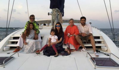 Bachchan Family returns from Maldives after celebrations of 75th birthday