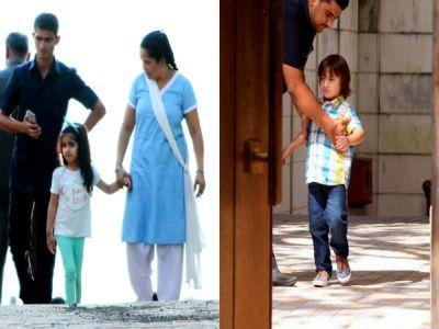 AbRam Khan and Nitara Kumar got captured flaunting their cute looks