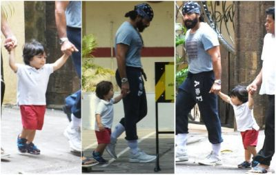 Taimur goes for an outing with Papa Saif Ali Khan, see viral photos