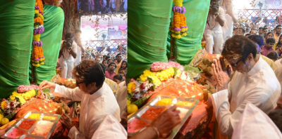 Big B visits to take blessings of the King of Lal Bagh, see pics