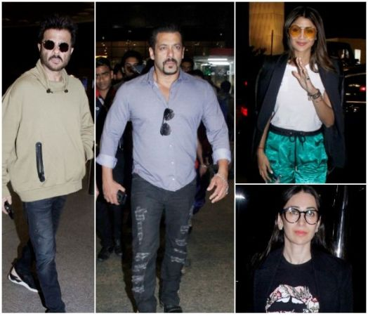 Stars Spotted: Salman Khan including Anil, Karisma and Shilpa Shetty spotted on Mumbai Airport