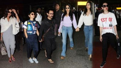 See Pics: Bollywood celebs returning from Isha Ambani's engagement, spot on the airport