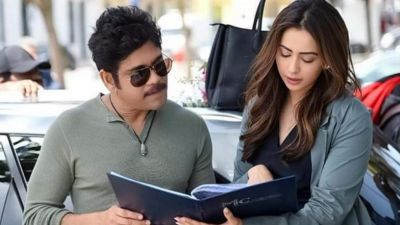 Pic Talk: King Nagarjuna and Rakul practicing stunts on sets of Manmadhudu 2