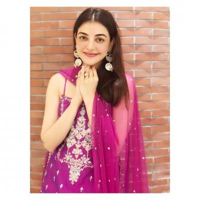 Kajal Aggarwal slays in Bold violet apparel; see here!