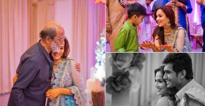 Watch Rajinikanth dancing to Oruvan Oruvan Mudhalali at  daughter Soundarya pre-wedding party, check out the video here