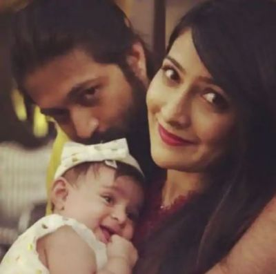 The pic of Yash with wife Radhika Pandit and daughter is too cute to handle