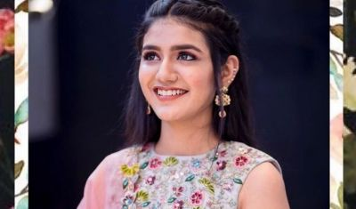 Pic Talk: Priya Prakash Desi Look in a multi-colored floral dress